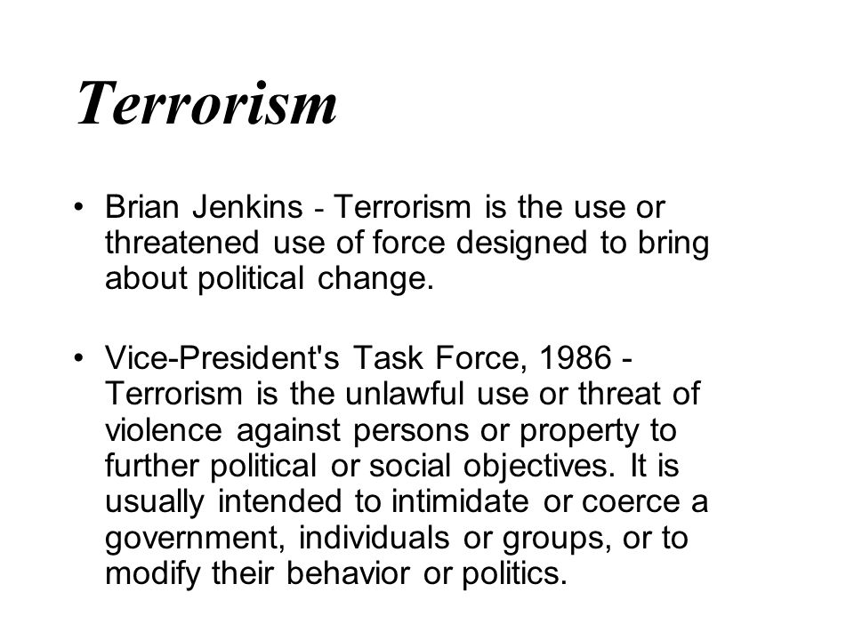 """preemptive use of force against terrorism The united states announced in its national security strategy of 2002 a right of """"preemptive"""" self-defense against terrorist threats, threats posed by nuclear weapons programs, and the like again, as ian brownlie did in the 1960s, other scholars have defended the charter against these post-9/11 challenges."""