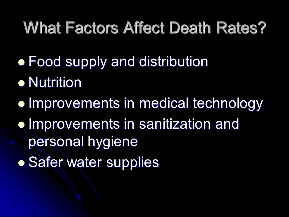 What Factors Affect Death Rates