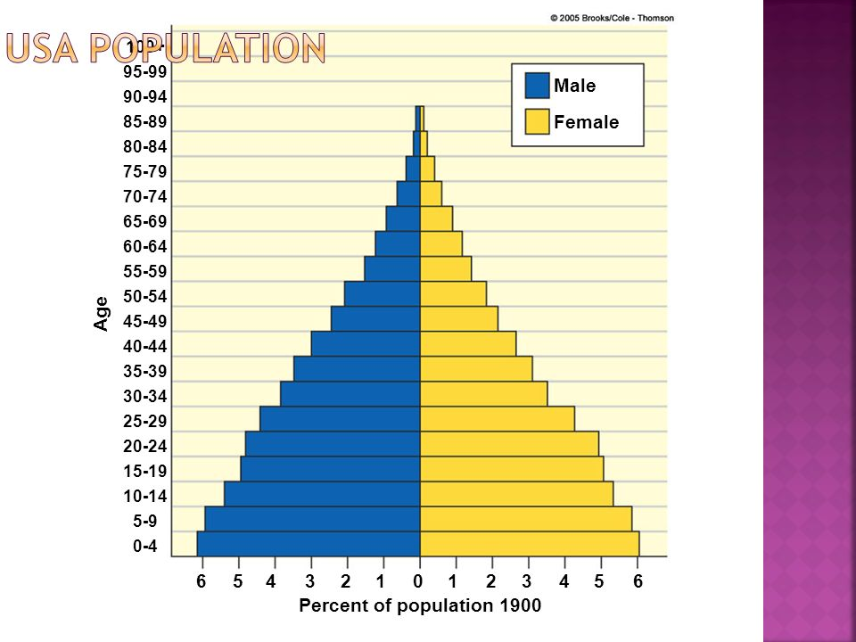 USA Population Male Female Age