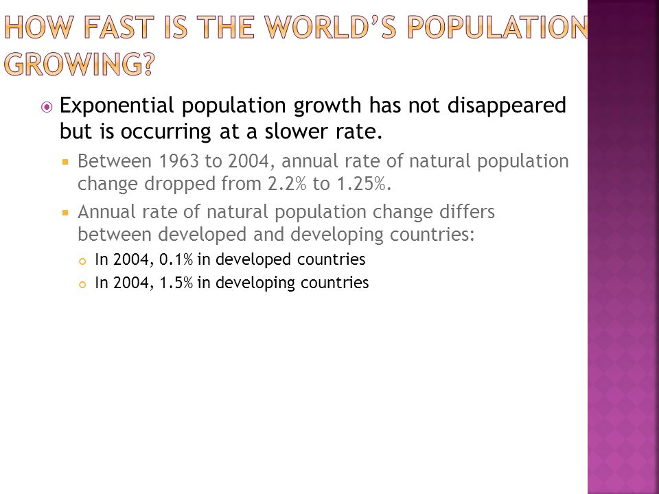 How fast is the world's population growing