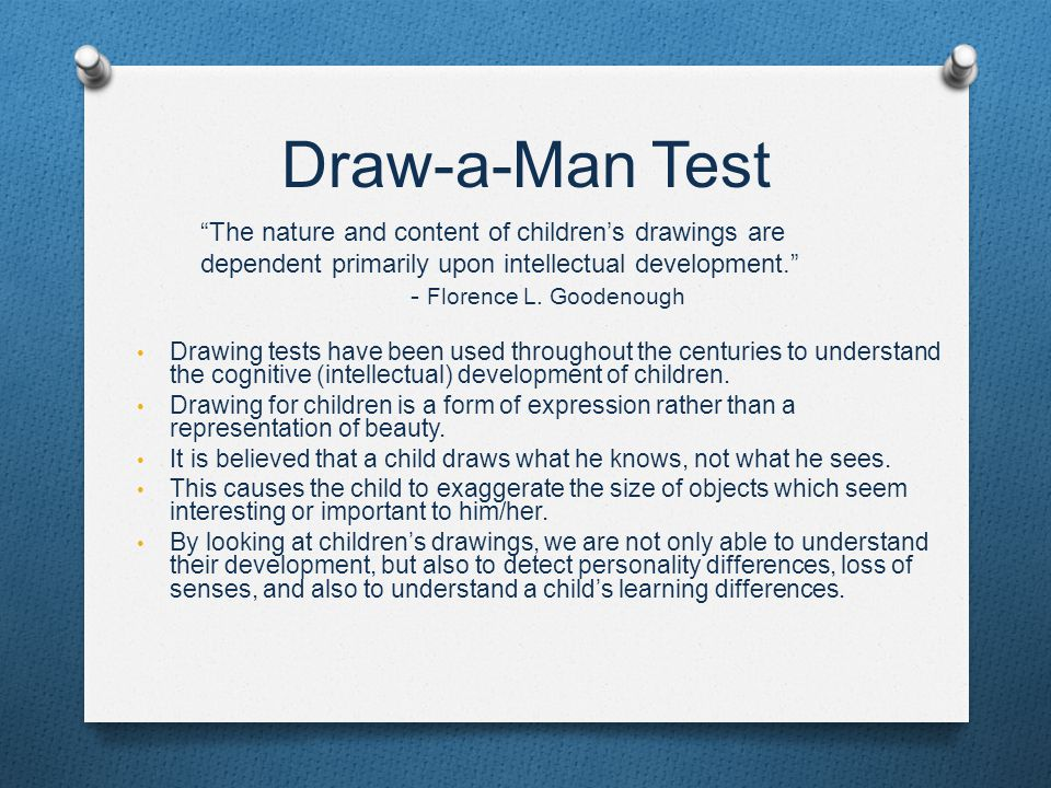 Scribble Drawing Quiz : Florence l goodenough draw a man theory ppt video