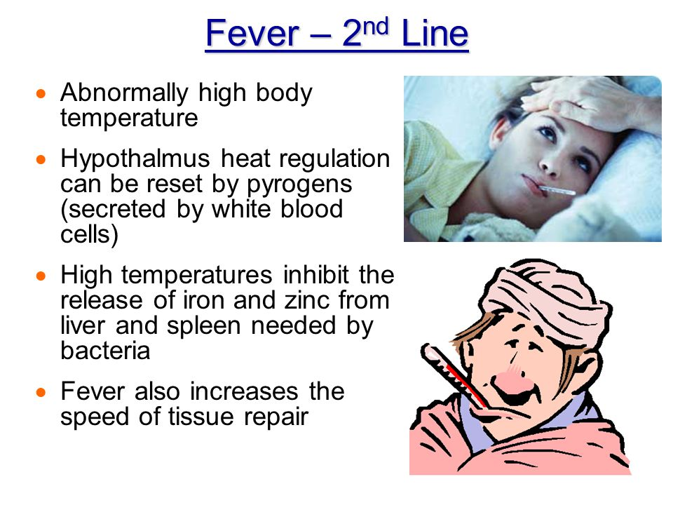 Fever – 2nd Line Abnormally high body temperature