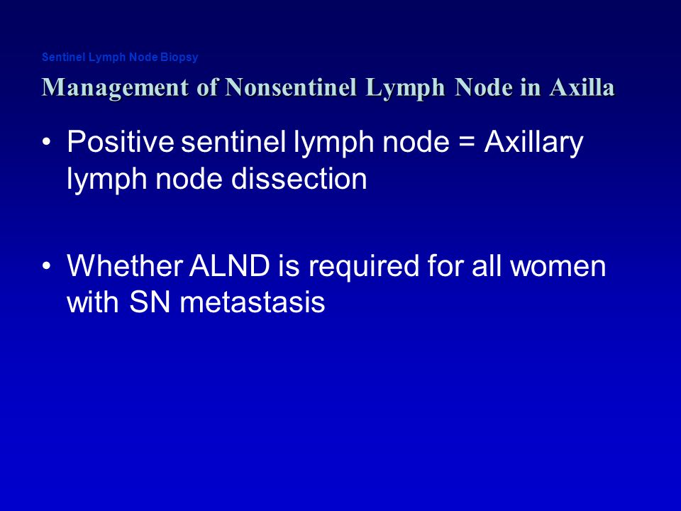 Breast cancer positive lymph node axilla