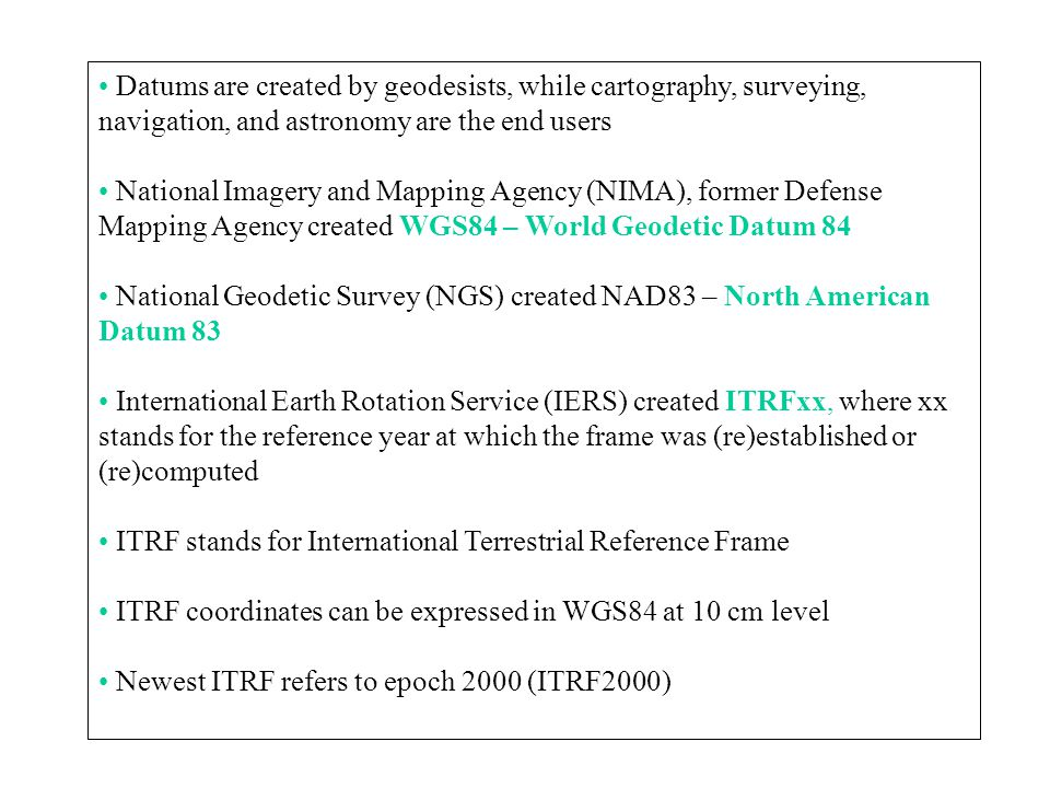 international terrestrial reference frame 2000 Dependent model relating nzgd2000 coordinates to the international terrestrial reference frame (itrf) it was aligned with itrf96 at epoch 20000.