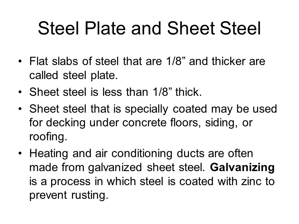 Steel Plate and Sheet Steel