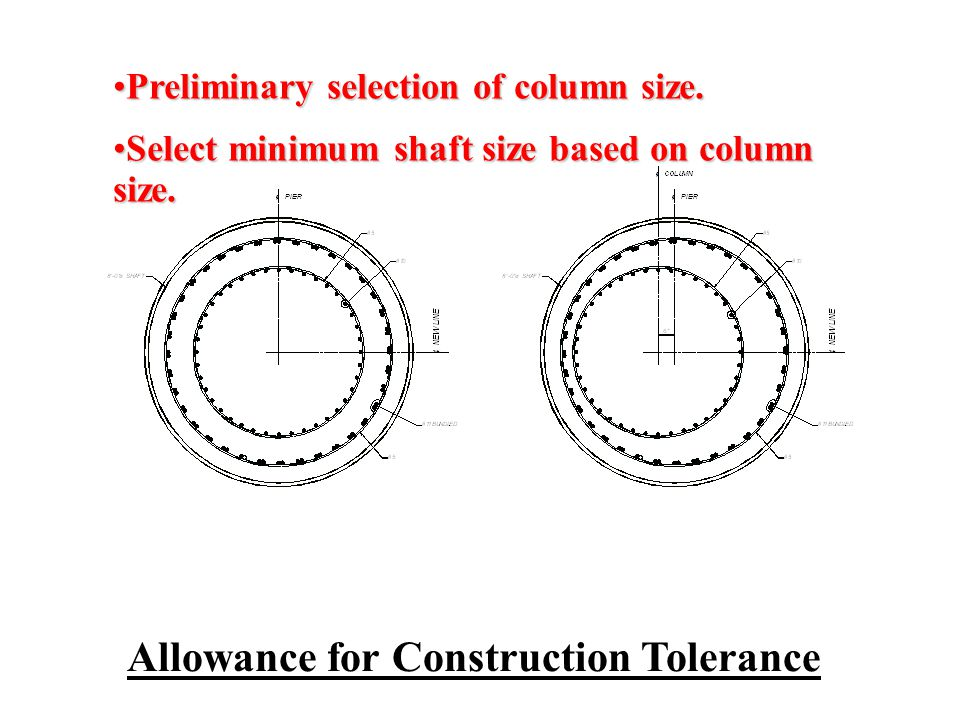 Allowance for Construction Tolerance