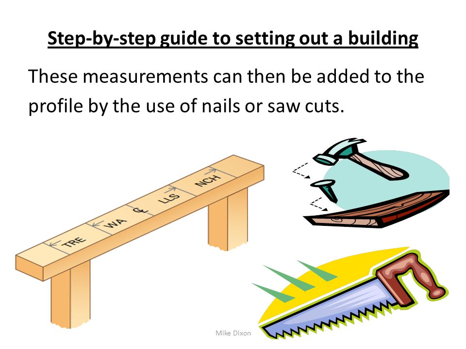 Set out masonry structures ppt video online download for Build a house step by step guide