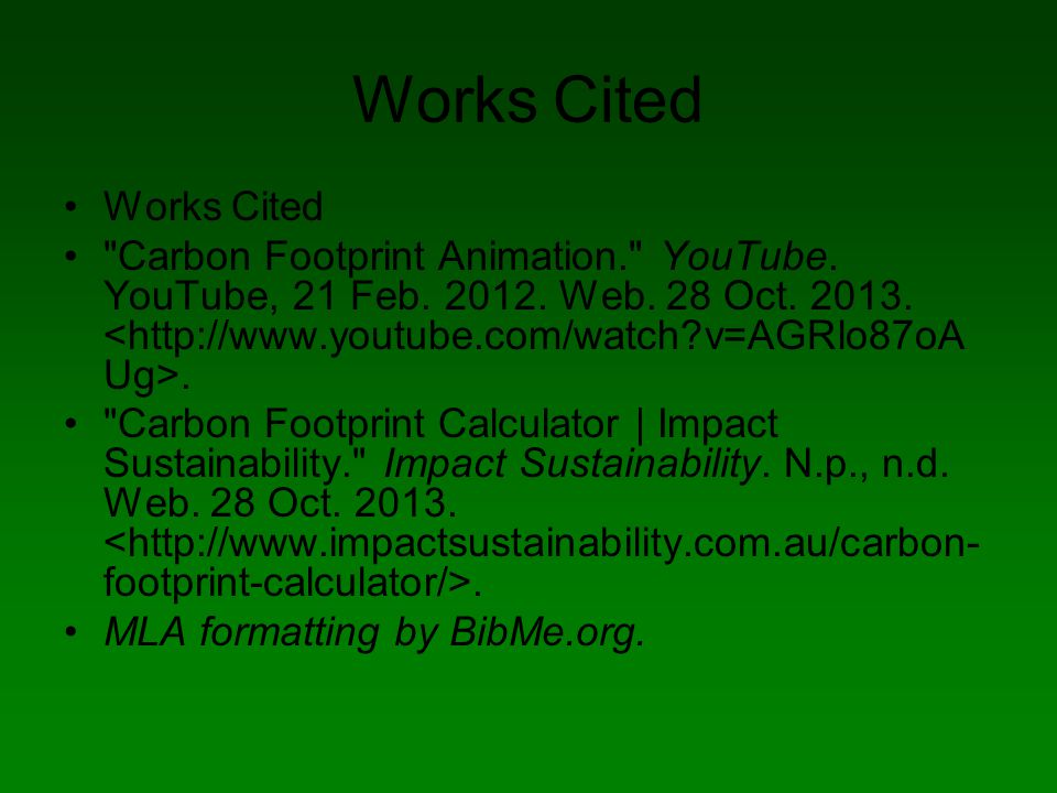 carbon footprint by  kenny heintz