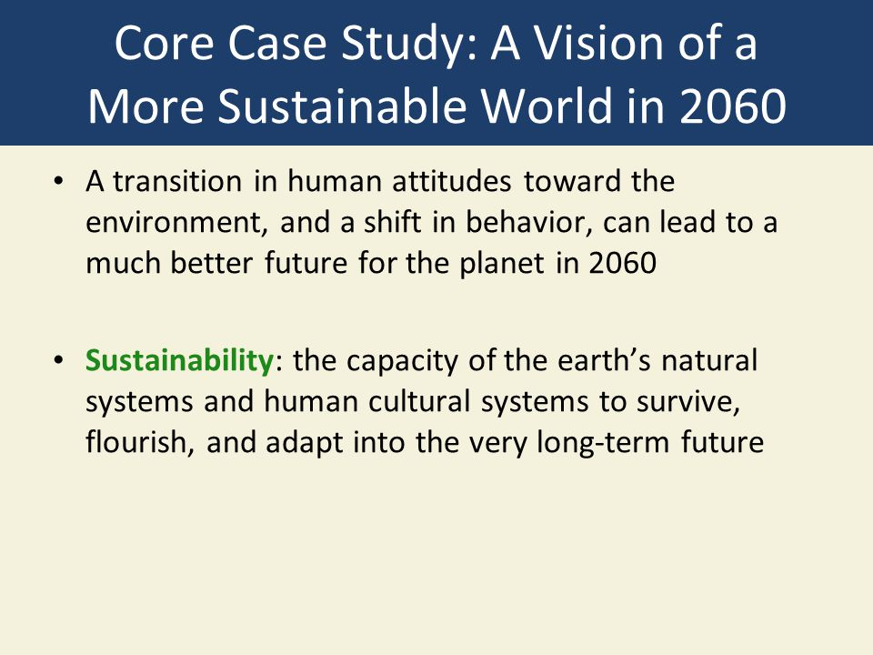 Core Case Study: A Vision of a More Sustainable World in 2060