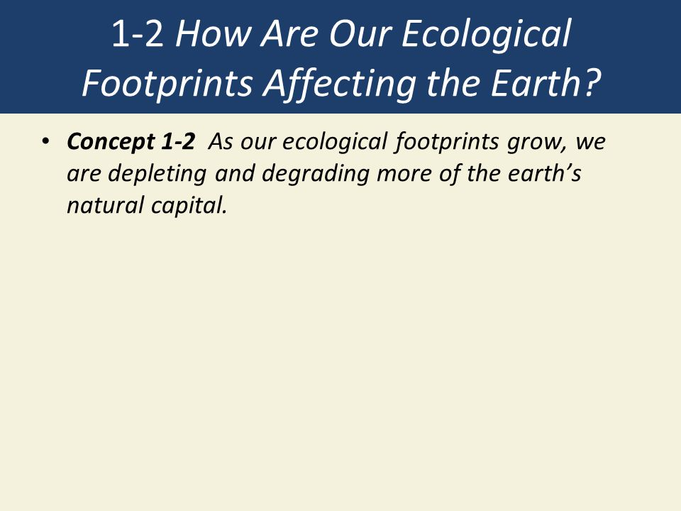1-2 How Are Our Ecological Footprints Affecting the Earth