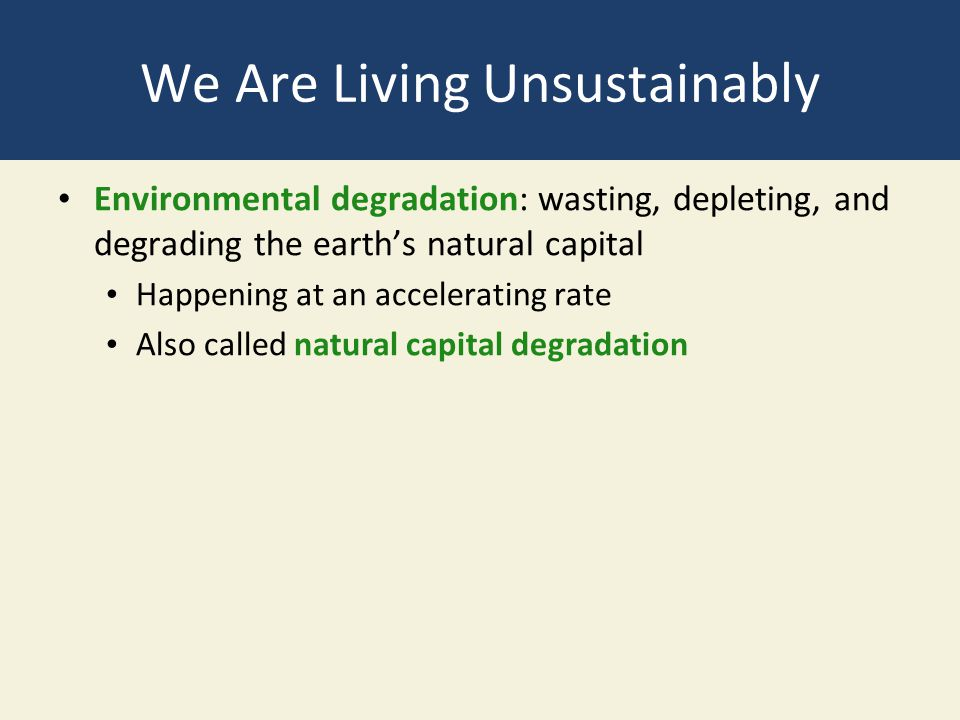 We Are Living Unsustainably