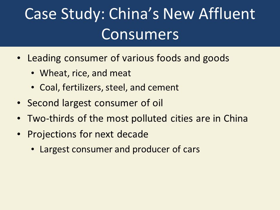 Case Study: China's New Affluent Consumers