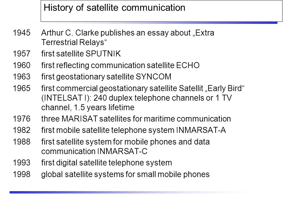 mobile communications chapter satellite systems ppt video  history of satellite communication