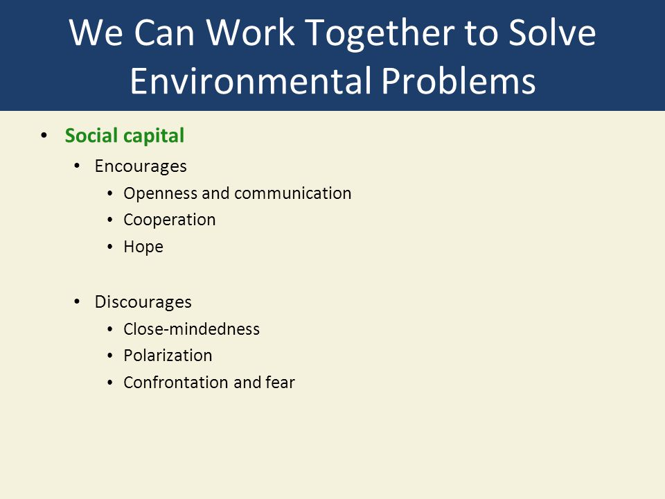 solving environmental problems should be the How to control environmental pollution (30 this method does not solve the problem in a real developing skills for solving environmental problems (v.