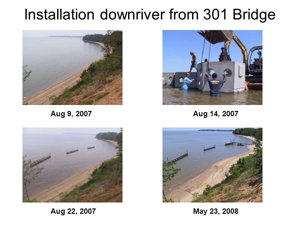 Installation downriver from 301 Bridge