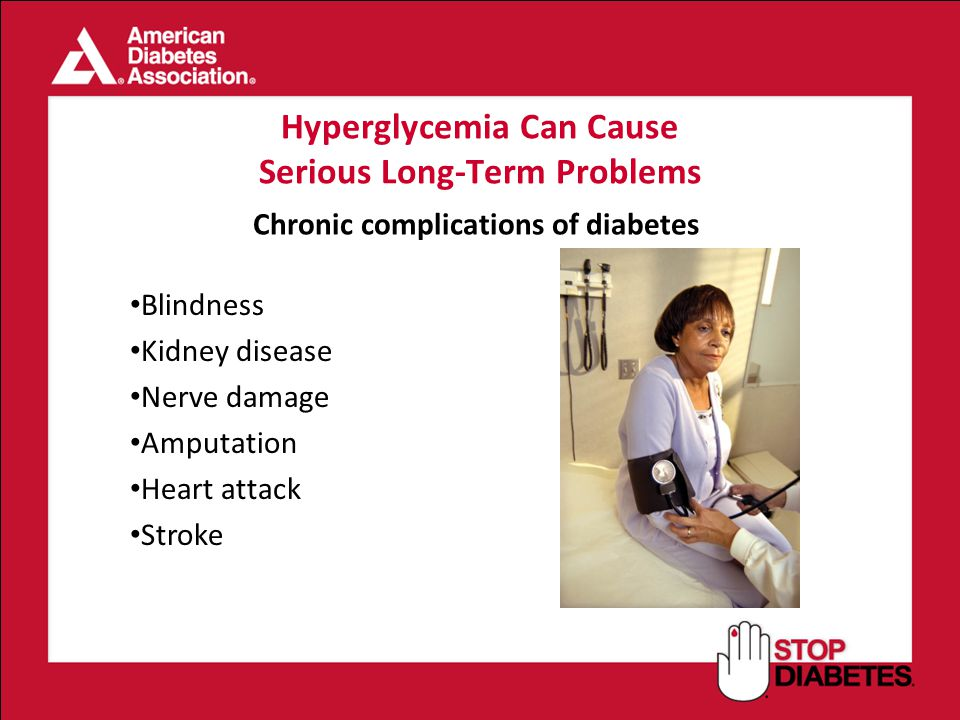 Hyperglycemia Can Cause Serious Long-Term Problems
