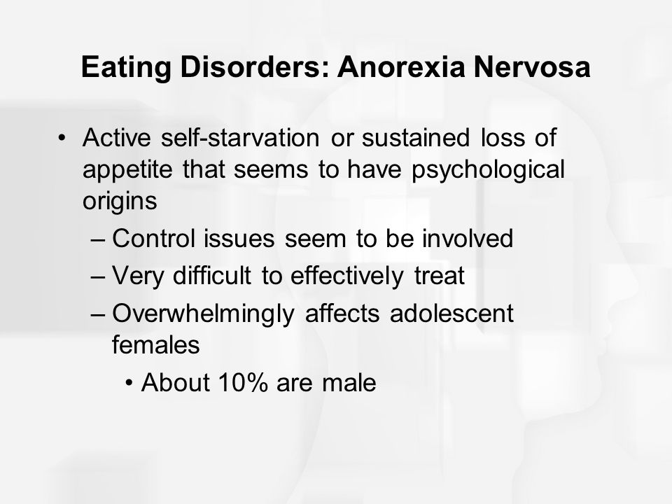 an introduction to the issue of anorexia nervosa in the united states An expert explains anorexia nervosa, including how to spot the symptoms and how the eating disorder can affect a person's life learn more about anorexia nervosa.