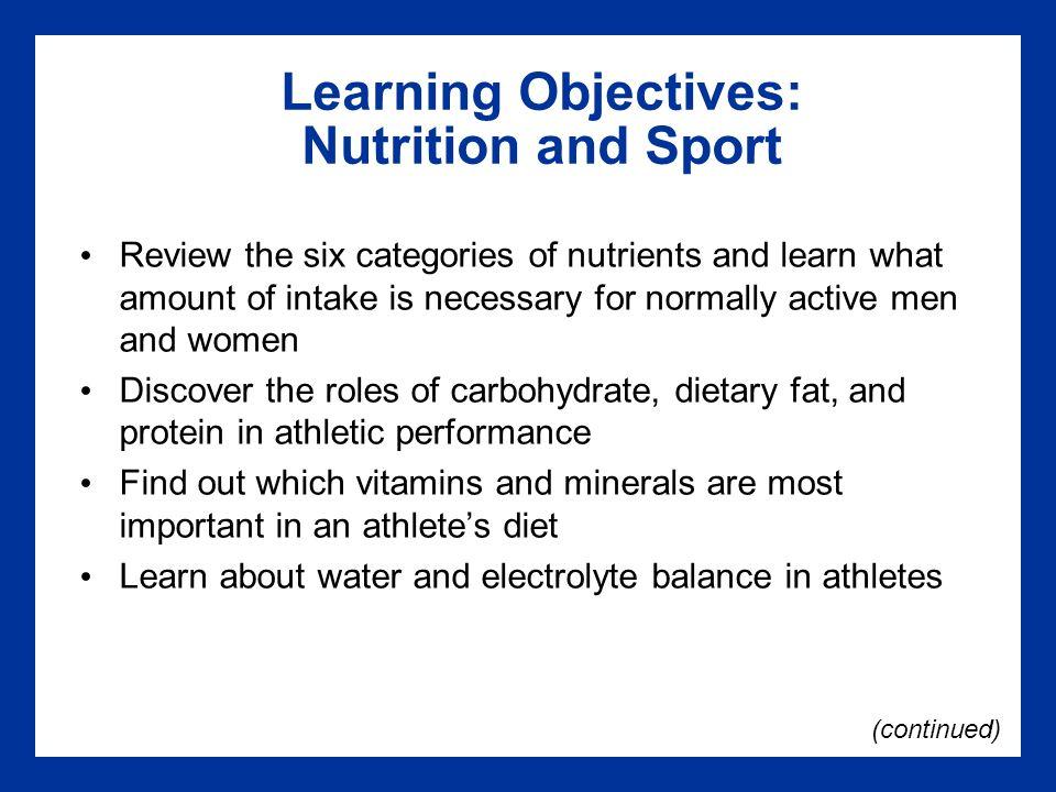 Sports Nutrition - NFHS Learn