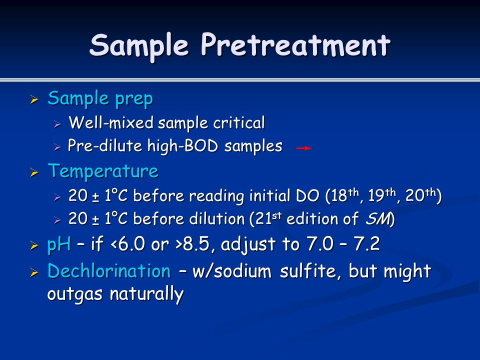 Sample Pretreatment Sample prep Temperature