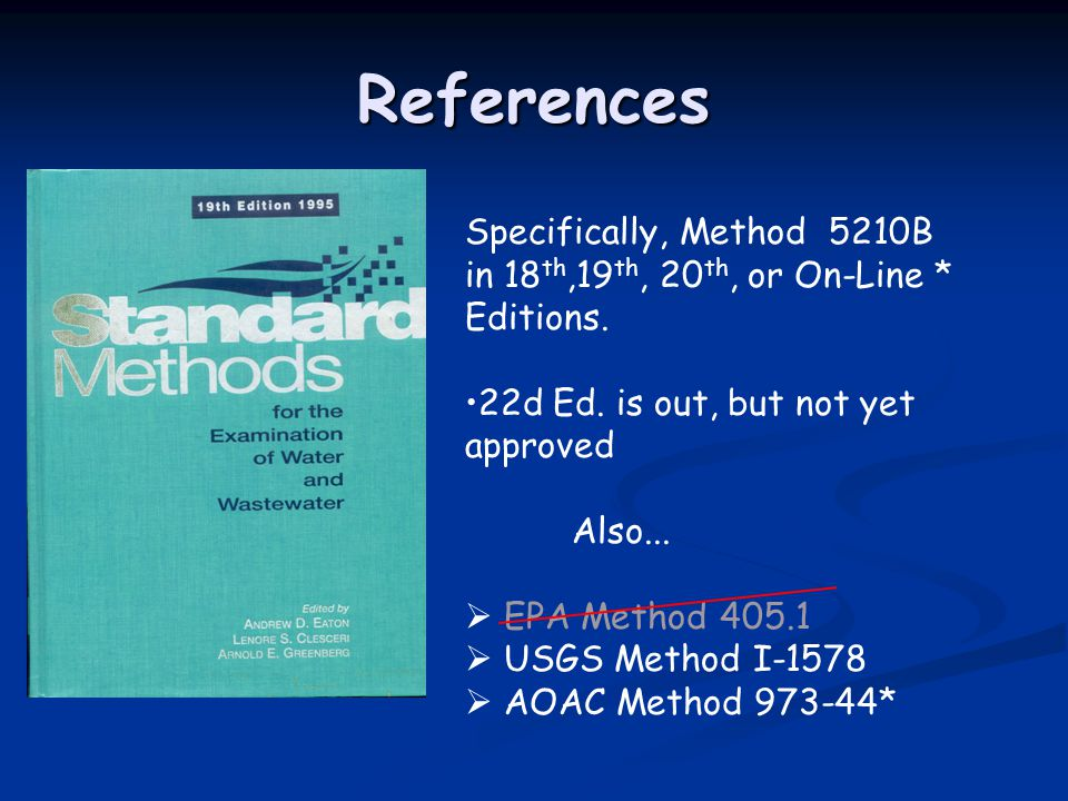 References Specifically, Method 5210B
