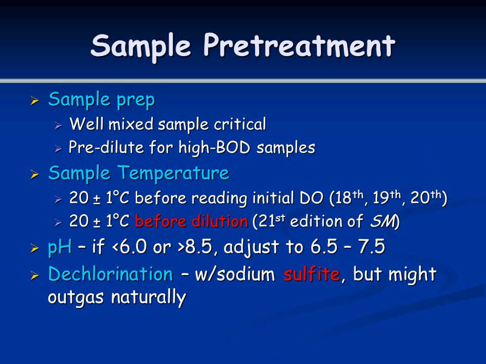 Sample Pretreatment Sample prep Sample Temperature