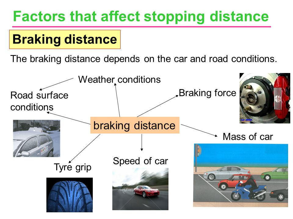 Factors that affect stopping distance