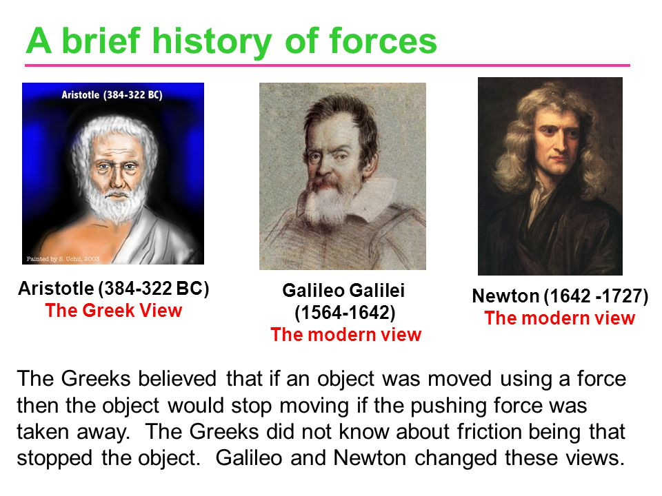 A brief history of forces