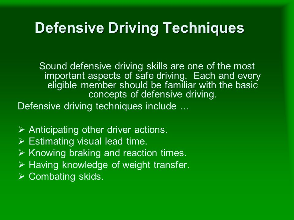 the importance of defensive driving a driving skill Learn everything you want about defensive driving skills with the wikihow  defensive driving skills category learn about topics such as how to handle.