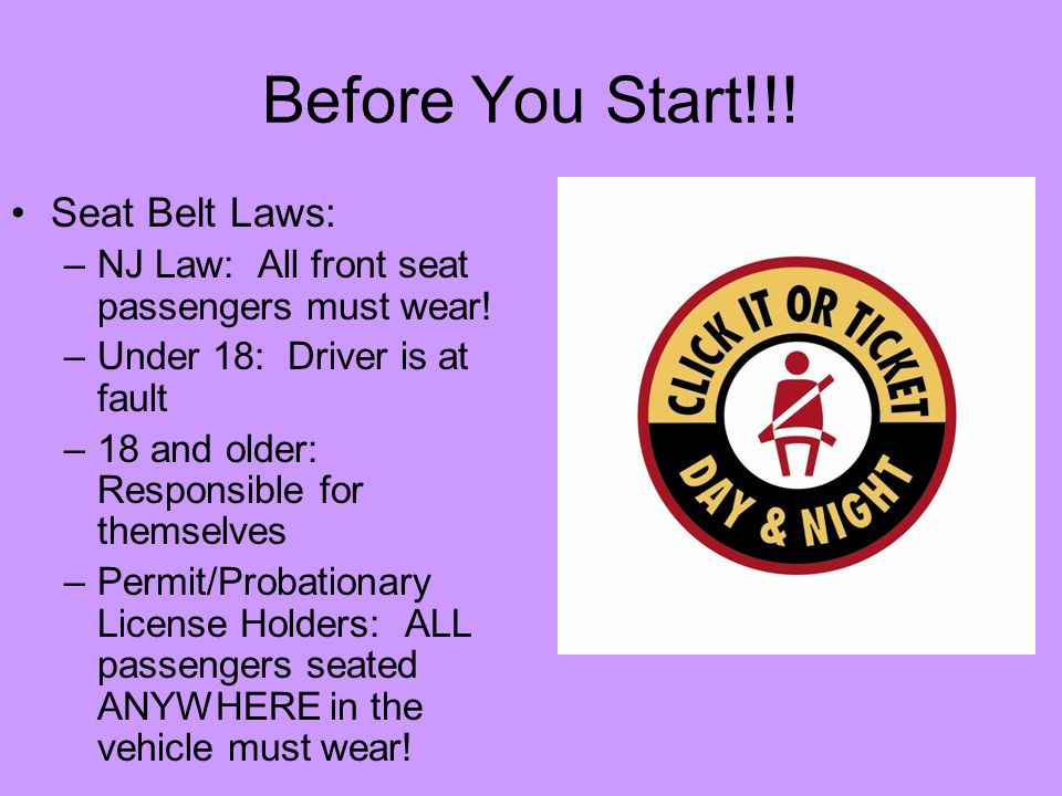 New Jersey Car Seat Laws: Starting, Steering, And Stopping