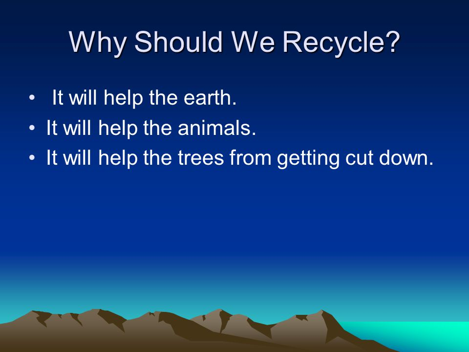 people should take recycling seriously to save the environment Christians and the environment environmental stewardship christians and the environment creation care club recycling program energy use and conservation use of cleaning products so we should focus our efforts on meeting the needs of people rather than addressing environmental issues.