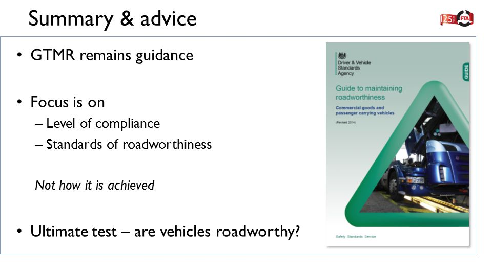 Dvsa Guide To Maintaining Roadworthiness Ppt Video
