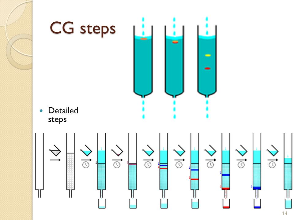 CG steps Detailed steps