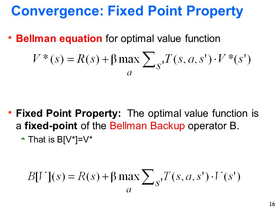 Convergence: Fixed Point Property