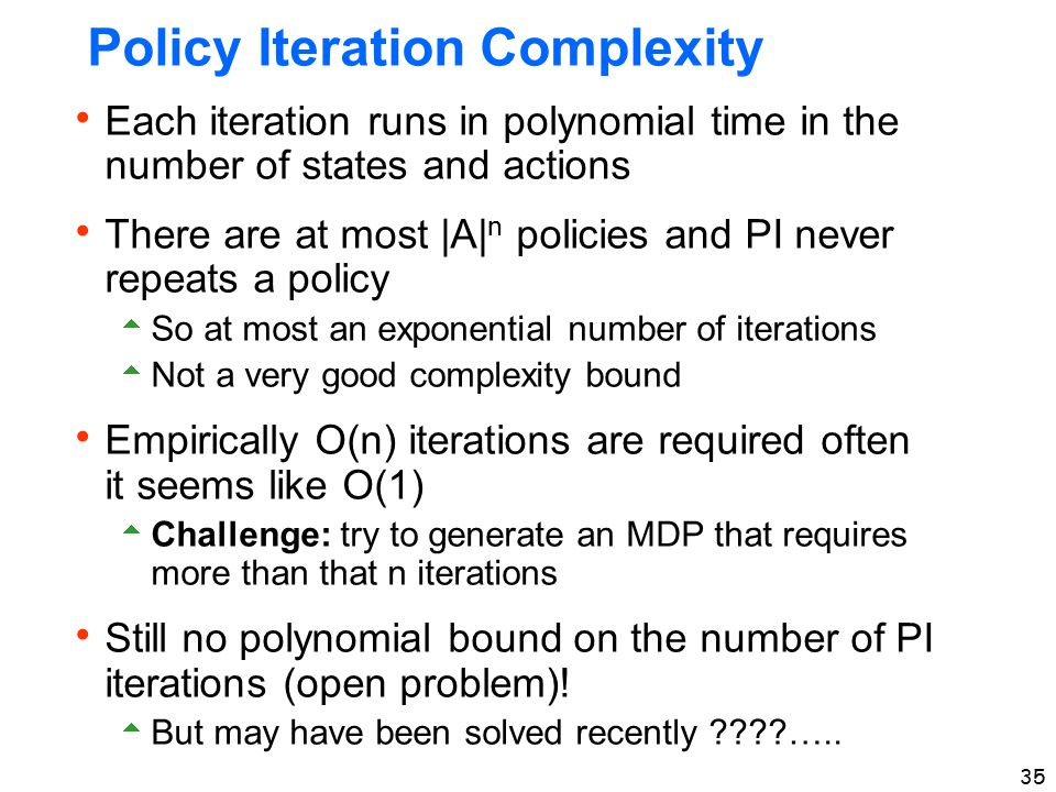 Policy Iteration Complexity