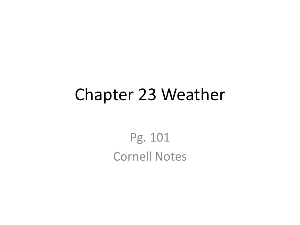 weather and climate pdf notes