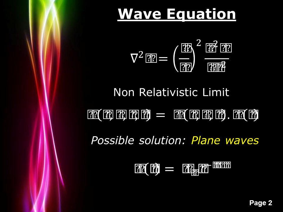 Quantum chemistry revisited powerpoint templates ppt video online quantum chemistry revisited powerpoint templates 2 wave equation non relativistic limit possible solution plane waves toneelgroepblik Gallery