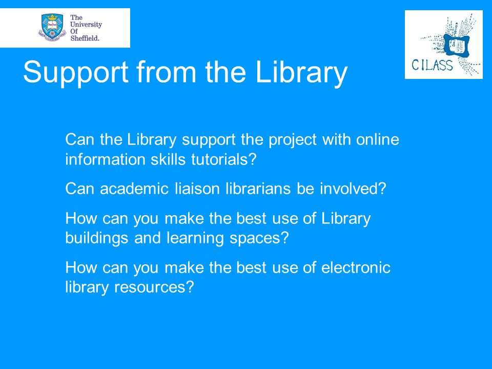 Support from the Library