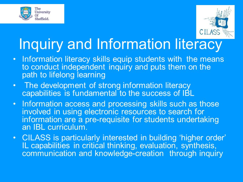 Inquiry and Information literacy