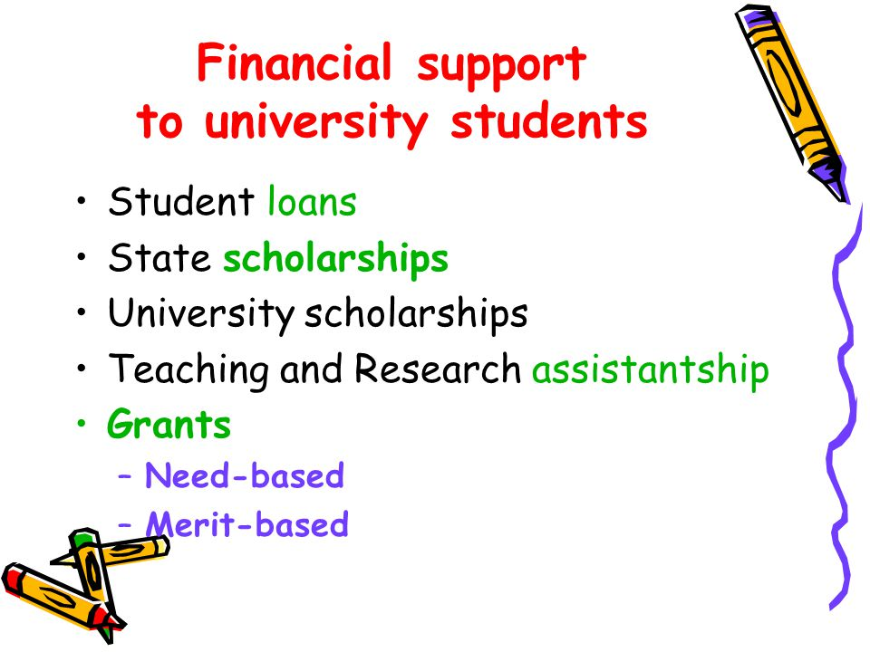 Financial support to university students