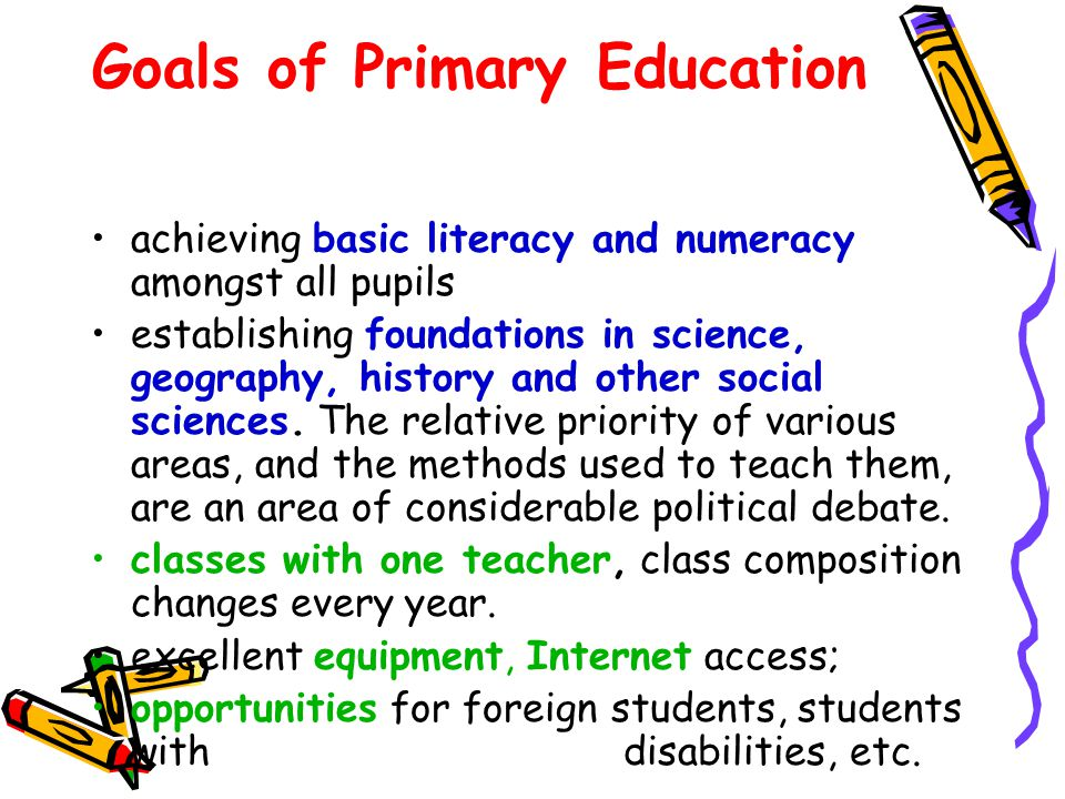 Goals of Primary Education