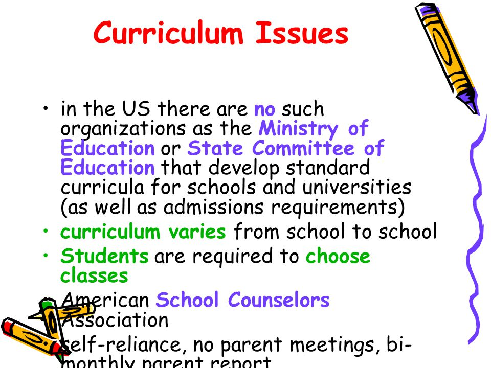 Curriculum Issues