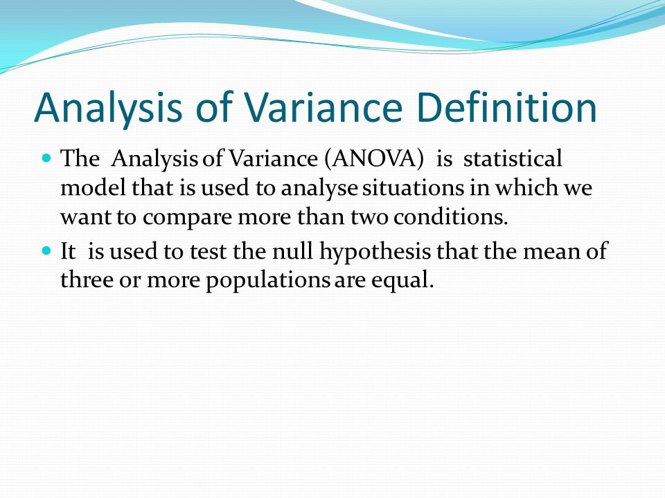 statistics analysis of variance Statistics onewayanova generate a one-way anova table calling sequence  parameters options description examples references compatibility calling.