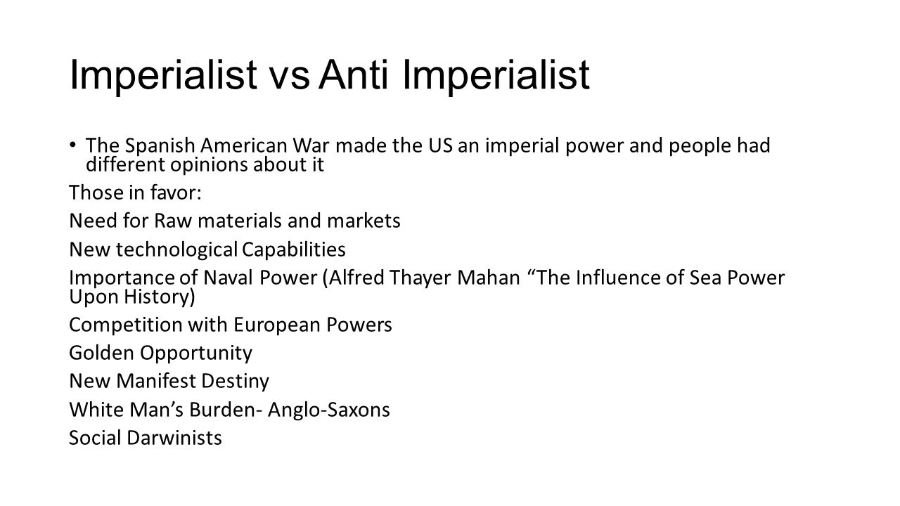 introduction to imperialism essay