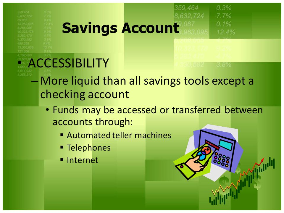 Savings Account ACCESSIBILITY
