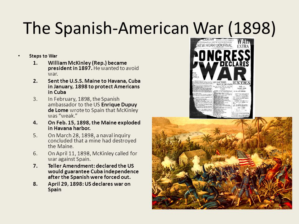 """us decision to declare war against spain in 1898 Appendix a texts of formal declarations of war by the united states the power """"to declare war for a declaration of war against spain in 1898."""