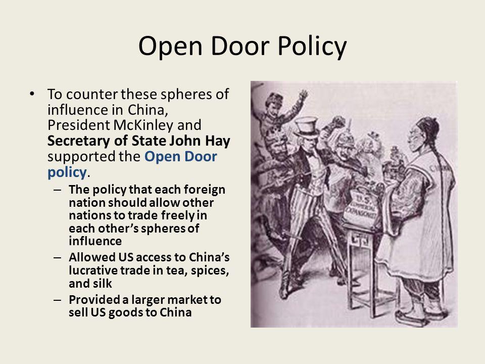 open door policy. China S Open Door Policy T