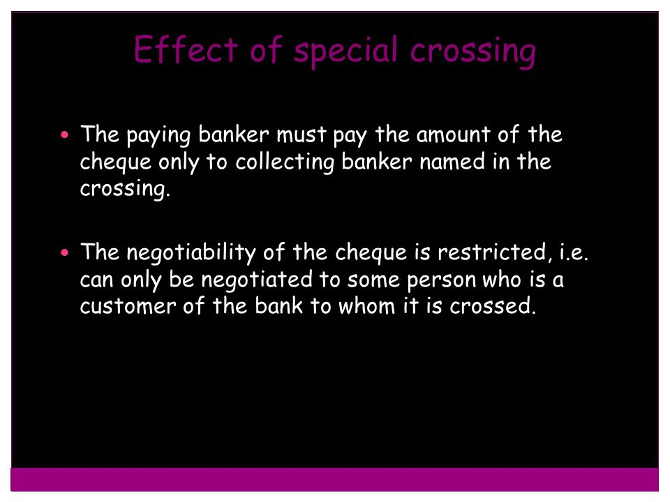 Effect of special crossing