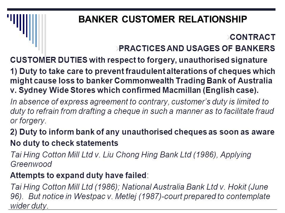 banker customer relationship pdf australia
