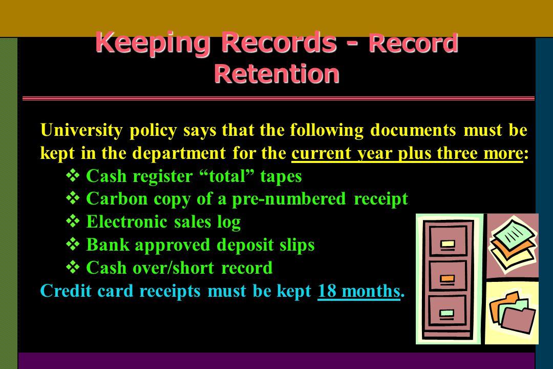 University of iowa cash handling training presentation ppt video keeping records record retention reheart Gallery