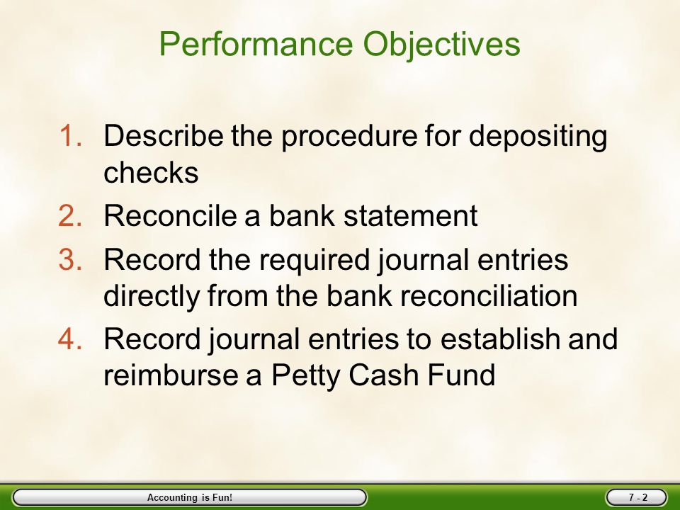 objectives of bank reconciliation statement pdf